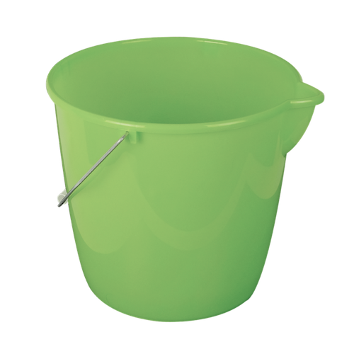 Seau vert avec hanse metal