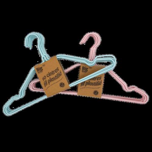 Cintre fil de fer plastifié