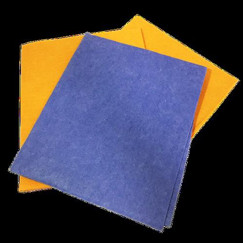 Serpillière jaune bleue non tissée