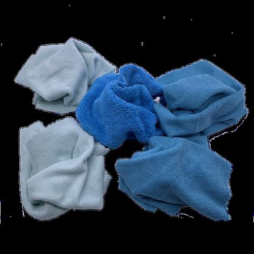 chiffons microfibres bleu