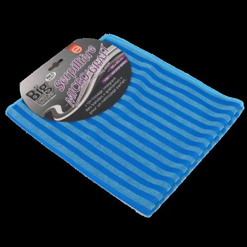 Serpillière bleue bandes grattantes