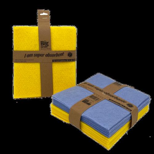 Serpillières non tissées bleue jaune