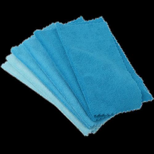 Carré microfibre bleu multiusages